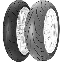 Avon 3D Ultra Supersport Front Tire - 120/60ZR17 - Avon Distanzia Rear Tire - 110/80-18S