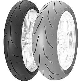 Avon 3D Ultra Xtreme Front Tire - 120/70ZR17 - Avon 3D Ultra Sport Rear Tire - 160/60ZR17