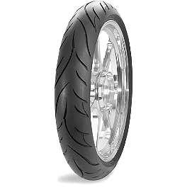 Avon Cobra Non-Radial Front Tire - 120/70-21 - Avon Roadrider Rear Tire - 110/90-18V