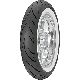 Avon Cobra Front Tire - 100/90-19 Wide Whitewall - Avon Cobra Radial Rear Tire - 300/35VR18