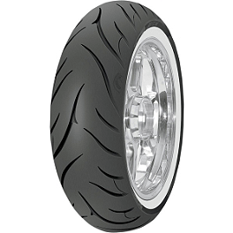 Avon Cobra Rear Tire - MT90-16B Wide Whitewall - Dunlop Tube MT/Mu90-16 Offset Metal Stem