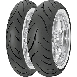 Avon Cobra Wide Whitewall Tire Combo - Avon Cobra Front Tire - MT90-16B Wide Whitewall
