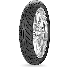 Avon Roadrider Front Tire - 100/90-18V - Hard Krome Slash-Cut Staggered Duals Exhaust