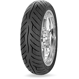 Avon Roadrider Rear Tire - 100/90-18V - Avon Cobra Front Tire - MT90-16B Wide Whitewall