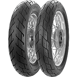 Avon Roadrunner Tire Combo - Avon Cobra Front Tire - MT90-16B Wide Whitewall