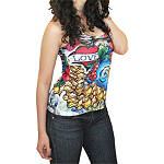 Bika Chik Women's Love Racerback Burnout Tank - Bika Chik Cruiser Products