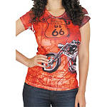 Bika Chik Women's Route 66 T-Shirt - Bika Chik Cruiser Products