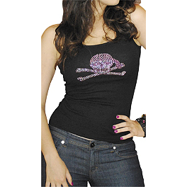 Bika Chik Women's Skull / Bones Embellished Tank - Bika Chik Women's Look Hot, Ride Hard T-Shirt