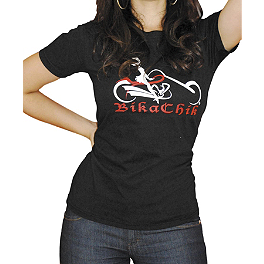 Bika Chik Women's Signature T-Shirt - Bika Chik Women's Route 66 Burnout T-Shirt