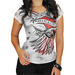 Bika Chik Women's Wings & Heart T-Shirt - Bika Chik Cruiser Womens Casual