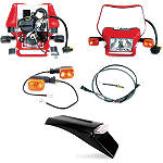 Baja EZ Mount Dual Sport Kit - Honda XR100 Dirt Bike Lights and Electrical
