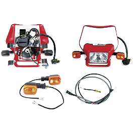 Baja Designs EZ Dual Sport Kit Electric Start - 2005 Honda CRF250X Trail Tech Voyager GPS Computer Kit - Stealth