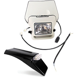 Baja Designs Enduro Light Kit Option 2 - White - 1976 Suzuki RM125 Baja EZ Mount Dual Sport Kit