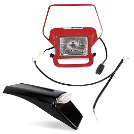 Baja Designs Enduro Light Kit Option 2 - Red - 1986 Kawasaki KX125 Baja Designs Enduro Light Kit Option 2 - White