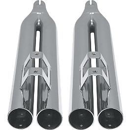Baron Custom Accessories 2-2-4 Slip-On Exhaust - Chrome - Samson Silver Bullet 3