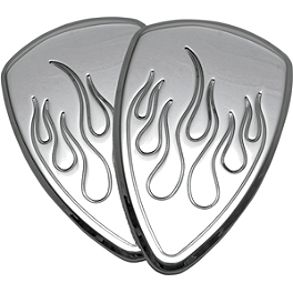 Baron Custom Accessories Chrome Mini Teardrop Air Cover - Enferno - Yamaha Star Accessories Hard Saddlebags - Raspberry Metallic