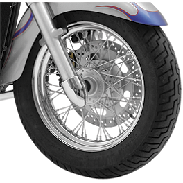 Baron Axle Nut / Fork Covers - 2000 Yamaha V Star 1100 Classic - XVS1100A Baron Custom Accessories Big Air Kit Cover - Chrome V-125C.I.