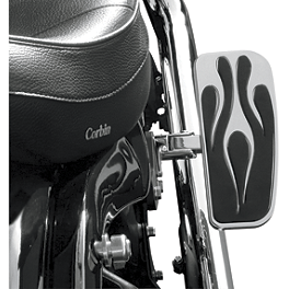 Baron Adjustable Passenger Enferno Shortboards - 2007 Kawasaki Vulcan 1600 Classic - VN1600A Baron Side Mount License With Brake Light
