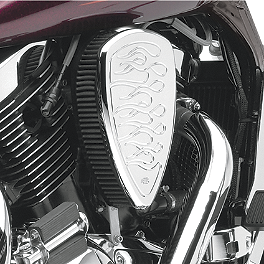 Baron Big Air Kit - Chrome Flame - 2008 Suzuki Boulevard C50 - VL800B Baron Bullet Ends For ISO Grips
