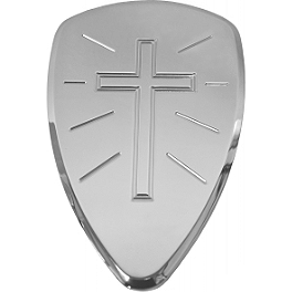Baron Custom Accessories Big Air Kit Cover - Chrome Cross - Baron Custom Accessories Big Air Kit Cover - Chrome V-125C.I.