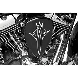 Baron Big Air Kit - Black Pinstripe - 2008 Kawasaki Vulcan 1600 Mean Streak - VN1600B Baron Bullet Ends For ISO Grips