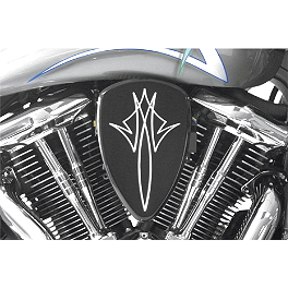 Baron Custom Accessories Big Air Kit - Black Pinstripe - 1997 Harley Davidson Fat Boy - FLSTF Baron Custom Accessories Big Air Kit Cover - Chrome V-125C.I.