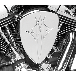 Baron Big Air Kit - Chrome Pinstripe - 2008 Kawasaki Vulcan 900 Custom - VN900C Baron Bullet Ends For ISO Grips