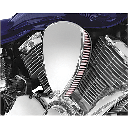 Baron Big Air Kit - Chrome Smooth - 2003 Kawasaki Vulcan 1600 Classic - VN1600A Baron Bullet Ends For ISO Grips