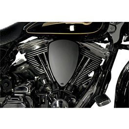 Baron Big Air Kit - Black Smooth - 2006 Kawasaki Vulcan 1600 Mean Streak - VN1600B Baron Custom Accessories Big Air Kit Cover - Chrome V-125C.I.