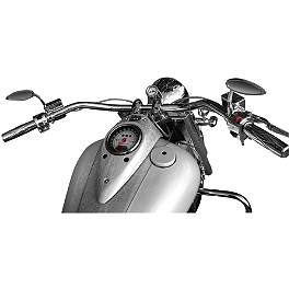 Baron Big Johnson Handlebar - Chrome - 2008 Yamaha V Star 650 Classic - XVS65A Baron Bullet Ends For ISO Grips