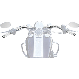 Baron Custom Accessories Big Johnson Handlebar - Chrome - 1986 Harley Davidson Tour Glide Classic - FLTC Baron Custom Accessories Big Air Kit Cover - Chrome V-125C.I.