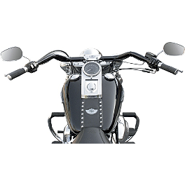 Baron Custom Accessories Big Johnson Handlebar - Black - 2002 Harley Davidson Heritage Softail Classic - FLSTCI Baron Custom Accessories Big Air Kit Cover - Chrome V-125C.I.