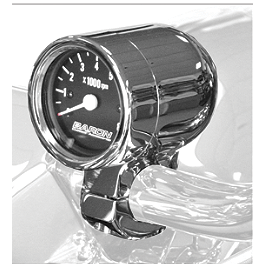 "Baron Bullet Tachometer With 1.00"" Clamp - Baron Custom Accessories Chromed Bullet Gauge Housing - 1-1/2"