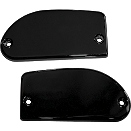 Baron Smooth Brake & Clutch Master Cylinder Covers - 2006 Yamaha Stratoliner 1900 - XV19CT Baron Bullet Ends For ISO Grips