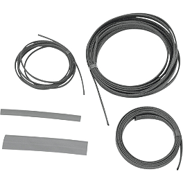 Baron Custom Accessories Cable Hose And Wire Dress Up Kit - Black - 2004 Kawasaki Vulcan 1500 Classic - VN1500E Baron Bullet Ends For ISO Grips