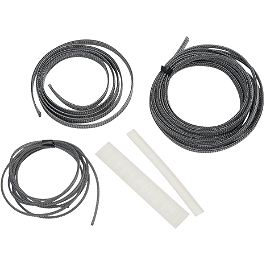 Baron Custom Accessories Cable Hose And Wire Dress Up Kit - Carbon Fiber - 2006 Yamaha V Star 650 Midnight Custom - XVS65M Baron Bullet Ends For ISO Grips