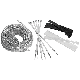 Baron Cable Hose And Wire Dress Up Kit - Chrome - 2010 Yamaha V Star 650 Midnight Custom - XVS65M Baron Bullet Ends For ISO Grips