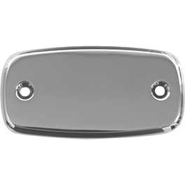 Baron Master Cylinder Cover - Smooth - 2009 Yamaha V Star 650 Custom - XVS65 Baron Bullet Ends For ISO Grips