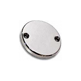 Baron Custom Accessories Round Master Cylinder Cover - Show Chrome Slider Brake Pedal Cover - Teardrop