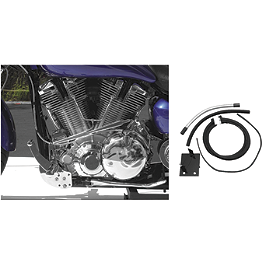 Baron Fuel Pump Relocation Kit - 2000 Yamaha Road Star 1600 Silverado - XV1600AT Baron Custom Accessories Big Air Kit Cover - Chrome V-125C.I.