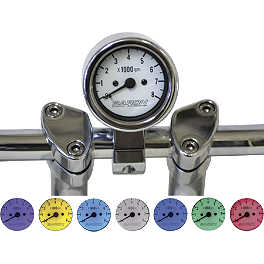 "Baron 3"" Bullet Tachometer 7-Color LED Display - 1"" Clamp - Baron Bullet Tachometer With 1.25"