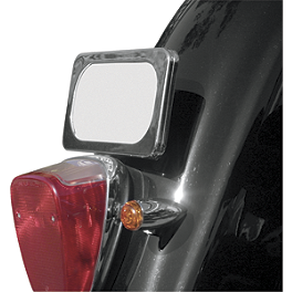 Baron Laydown License Mount - 2002 Yamaha V Star 1100 Classic - XVS1100A Yamaha Star Accessories Classic Deluxe Saddlebags - Plain