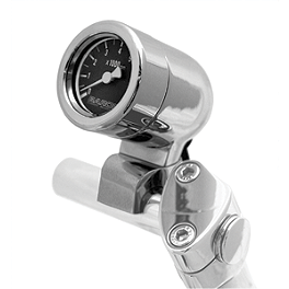 Baron Mini Bullet Tachometer - Baron Custom Accessories Chromed Bullet Gauge Housing - 1-1/2
