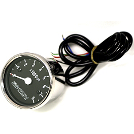 Baron Custom Accessories Replacement Tachometer Internals - 1995 Honda Shadow VLX - VT600C Baron Master Cylinder Cover - Flame