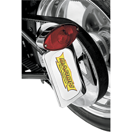 Baron Side Mount License With Brake Light - 2008 Yamaha V Star 650 Classic - XVS65A Baron Bullet Ends For ISO Grips