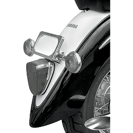 Baron Turn Signal And License Plate Kit - 2009 Yamaha V Star 1100 Classic - XVS11A Baron Bullet Ends For ISO Grips