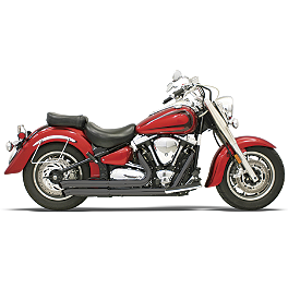 Bassani Xhaust Pro Street Turn Outs - Black - LA Choppers Stackedd Exhaust System