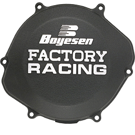 Boyesen Clutch Cover - Black - 2005 Suzuki RMZ250 Boyesen Supercooler Water Pump Kit