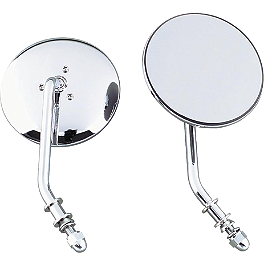 "Biker's Choice 4"" Round Mirror - Chrome - Drag Specialties Pony Marker Light Replacement Lenses"