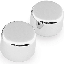 Biker's Choice Custom Axle Cap Set - Front - Kuryakyn Driving Light Kit - Chrome